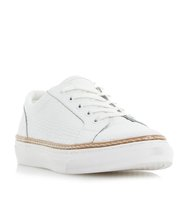 Elisa Pointed Toe Reptile Effect Leather Trainer