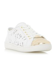 Elley Laser Cut Lace Up Trainer