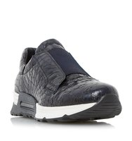 Elva Elasticated Leather Trainer