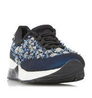 Enigma Embellished Lace Up Trainer