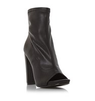 Especial Sm High Heel Peep Toe Ankle Boot