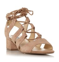 Kittyy Sm Block Heel Ghillie Lace Sandal