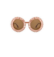 A Morir Nellee Sunglasses in Metallics Pink
