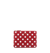 Comme Des Garcons Polka Dot Pouch in Red Geometric Print