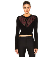 Erdem Knit Merino Celia Jumper in Black