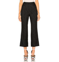 Erdem Stretch Jacquard Verity Trousers in Black