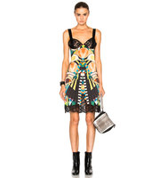 Givenchy Crazy Cleopatra Printed Silk Satin Dress in Abstract