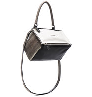 Givenchy Small Matte Leather Snake Pandora in Animal Print White Black