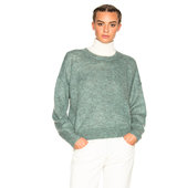 Isabel Marant Etoile Clifton Mohair Sweater in Green