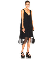 No 21 Asymmetrical Dress in Black