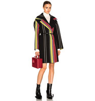 No 21 Cesira Coat in Black Stripes