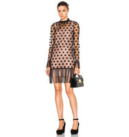 No 21 Nina Dress in Black Neutrals Geometric Print
