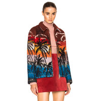 No 21 Tropical Cardigan in Red Abstract