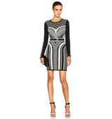 Sass Bide A Thousand Sacraments Dress in Black Abstract