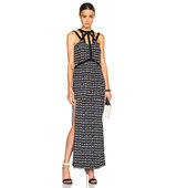 Sass Bide Rains Rumour Dress in Black Abstract