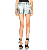 Thakoon Full Short in Ombre Tie Dye Black