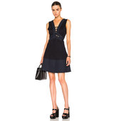 Thakoon Lace Front Dress in Blue