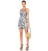 Thakoon Mini Halter Dress in Blue Floral