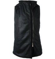 10sei0otto Hooded Sleeveless Biker Jacket