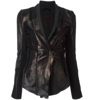 10sei0otto Metallic Bronze Tone Fitted Jacket