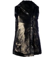 10sei0otto Metallic Mid Length Hooded Jacket