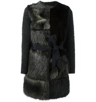 23 Out Of Rules Patchwork Fur Coat