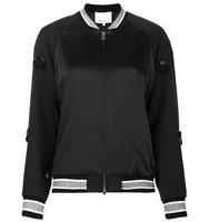 31 Phillip Lim Appliqu Satin Bomber Jacket