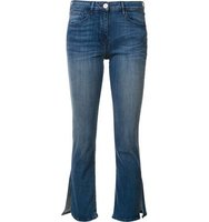 3x1 Cropped Slit Flared Jeans