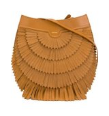 Agnona Polette Fringed Shoulder Bag