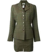 Alaa Vintage Checked Skirt Suit