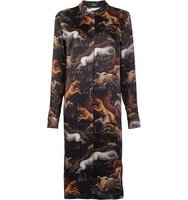 Alena Akhmadullina Black Horse Shirt Dress