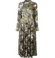 Alena Akhmadullina Horse Print Pleated Shirt Dress