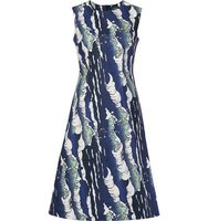 Alena Akhmadullina Waves Print Flared Dress