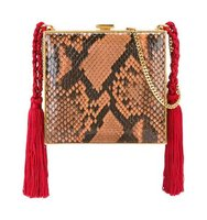 Alessandra Rich Square Tasseled Clutch