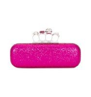 Alexander Mcqueen Knuckle Glitter Long Box Clutch