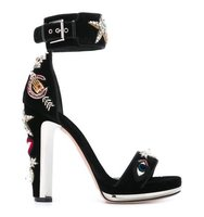 Alexander Mcqueen Obsession Embellished Buckled Sandals