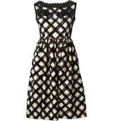 Antonio Marras Embellished Brush Stroke Print Dress