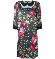 Antonio Marras Embellished Floral Print Dress