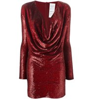 Ashish Sequined Cowl Neck Dress