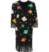 Au Jour Le Jour Floral Sequinned Lace Up Dress