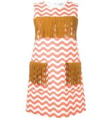 Au Jour Le Jour Zigzag Detail Fringed Dress