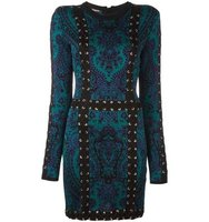 Balmain Baroque Lace Up Effect Dress