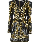 Balmain Baroque Pattern Dress