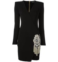 Balmain Glass Emblem Dress