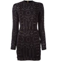 Balmain Lace Up Detailing Fitted Dress