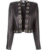 Balmain Metallic Eyelet Jacket