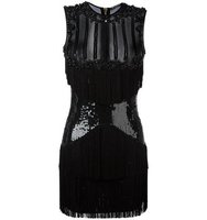 Balmain Sequined Panel Mini Dress