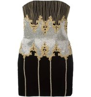 Balmain Sleeveless Baroque Dress