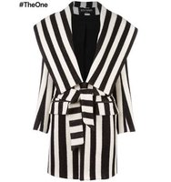 Balmain Striped Coat