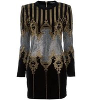 Balmain Studded Baroque Mini Dress